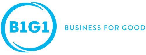 Logo of B1G1: Business for Good